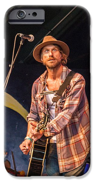 Bill Gallagher iPhone Cases - Todd Snider iPhone Case by Bill Gallagher