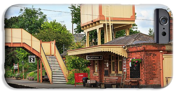Wark iPhone Cases - Toddington Railway Station in Gloucestershire iPhone Case by Louise Heusinkveld