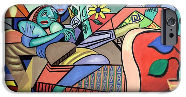Women Together Digital iPhone Cases - Together Again iPhone Case by Anthony Falbo