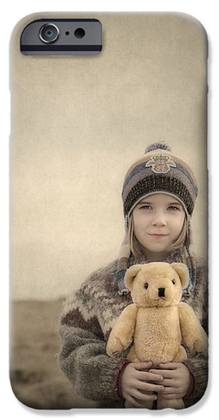 Stuffed Animal iPhone Cases - Together They Dream Into The Evening iPhone Case by Evelina Kremsdorf