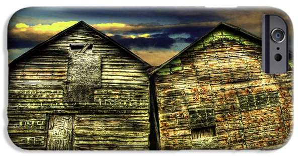 Old Barns iPhone Cases - Together Until The End iPhone Case by Thomas Young