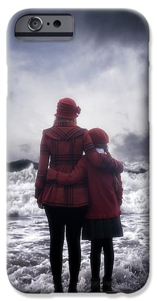 Two Waves iPhone Cases - Together We Are Strong iPhone Case by Joana Kruse