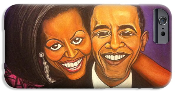 Obama Pastels iPhone Cases - Together we can iPhone Case by Eric Kelly III
