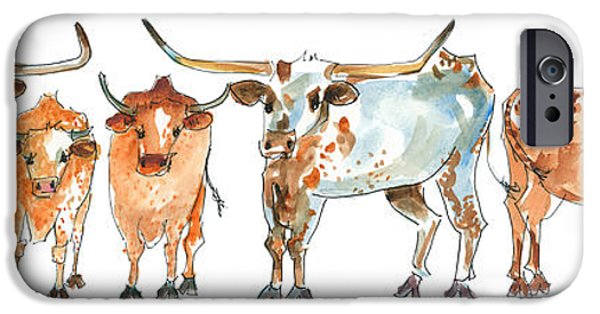 Kathleen iPhone Cases - Together We Stand Texas Longhorns iPhone Case by Kathleen McElwaine