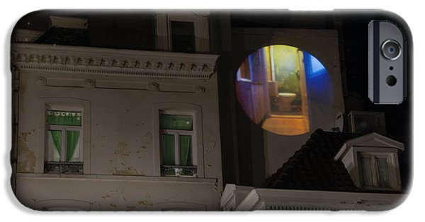 Belgian Comic Strip Art iPhone Cases - Toilet in Technicolor iPhone Case by Juli Scalzi