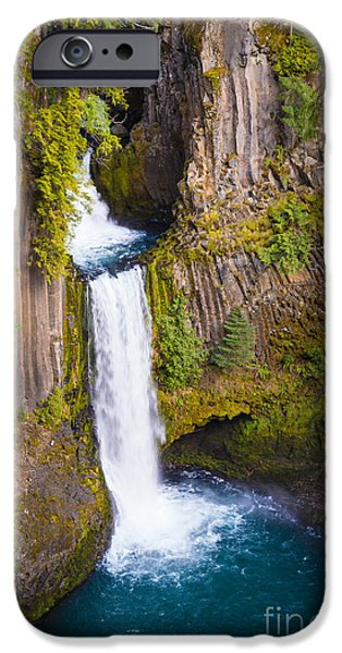 Pacific Northwest Rivers iPhone Cases - Toketee Falls iPhone Case by Inge Johnsson