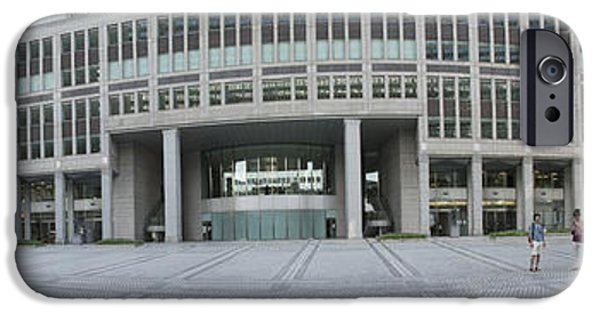 Shinjuku iPhone Cases - Tokyo Metropolitan Government Complex iPhone Case by David Bearden