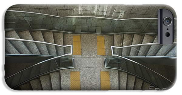 Shinjuku iPhone Cases - Tokyo Metropolitan Stairs iPhone Case by David Bearden