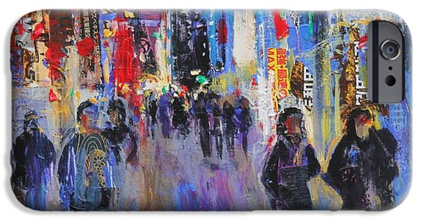 Japan Town iPhone Cases - Tokyo Night iPhone Case by Sylvia Paul