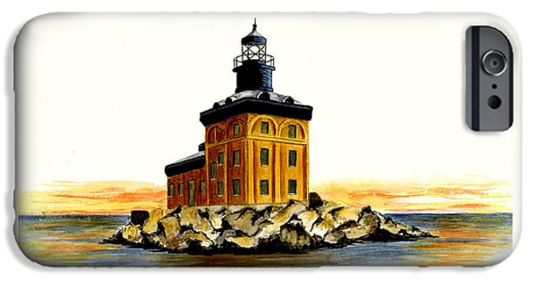 Lighthouse iPhone Cases - Toledo Harbor Lighthouse iPhone Case by Michael Vigliotti