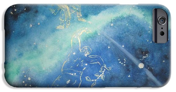 Monoceros Paintings iPhone Cases - Tolkien Hobbit  While Tom Whacked at Them Both iPhone Case by Glen McDonald
