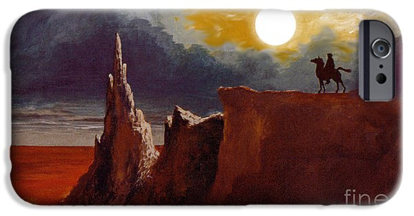 Jrr iPhone Cases - Tolkiens Night Rider iPhone Case by Gerald MacLennon