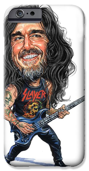 Bassist iPhone Cases - Tom Araya iPhone Case by Art