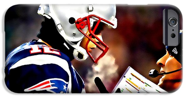 Randy Moss iPhone Cases - Go For the Big One iPhone Case by Brian Reaves