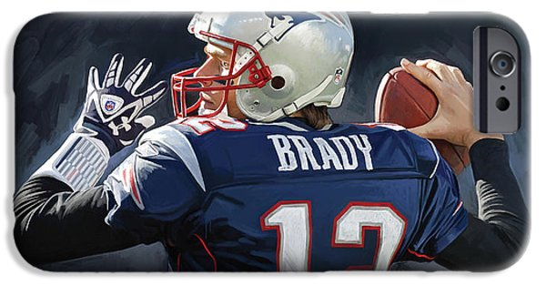 Tom iPhone Cases - Tom Brady Artwork iPhone Case by Sheraz A