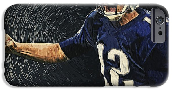 Tom Brady iPhone Cases - Tom Brady iPhone Case by Taylan Soyturk