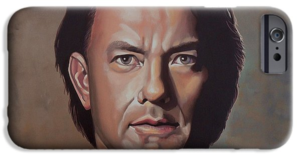 Savings iPhone Cases - Tom Hanks iPhone Case by Paul Meijering