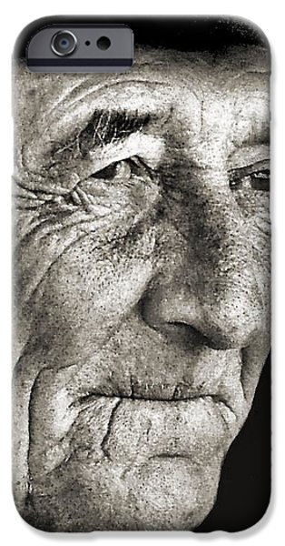 Portrait Of Old Man iPhone Cases - Tom McCorkel iPhone Case by Julie Dant