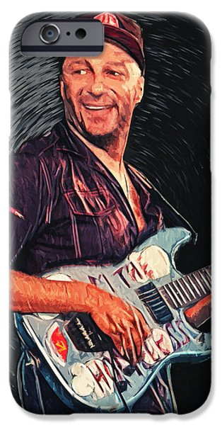 Barker iPhone Cases - Tom Morello iPhone Case by Taylan Soyturk