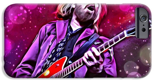 Digital Designs iPhone Cases - Tom Petty iPhone Case by Scott Wallace