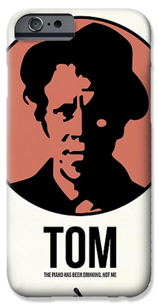 Stars Mixed Media iPhone Cases - Tom Poster 1 iPhone Case by Naxart Studio