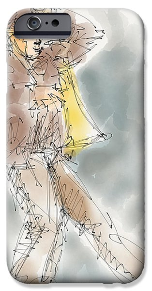 Exploring Paintings iPhone Cases - Tom iPhone Case by Sheena McCorquodale