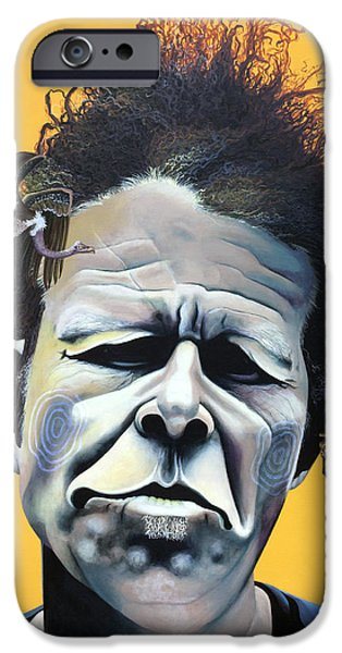 Recently Sold -  - Strange iPhone Cases - Tom Waits - Hes Big In Japan iPhone Case by Kelly Jade King