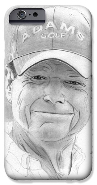 Us Open Drawings iPhone Cases - Tom Watson iPhone Case by Pat Moore