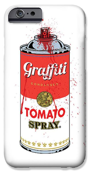 Tomato Spray Can iPhone Case by Gary Grayson