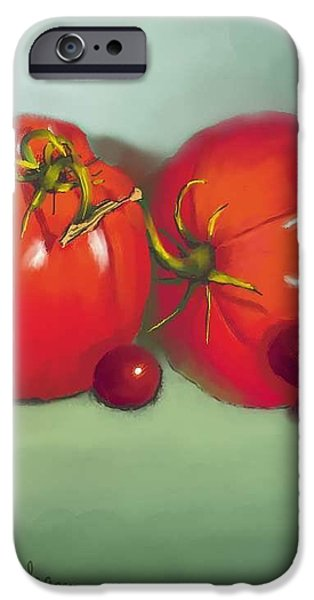 Tomatoes and Concord Grapes iPhone Case by Dessie Durham