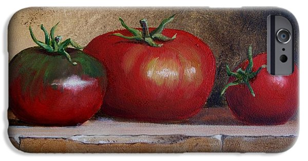 Wine Bottles iPhone Cases - Tomatoes iPhone Case by Jan Brieger-Scranton