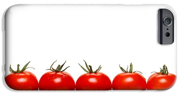 Ripe Photographs iPhone Cases - Tomatoes iPhone Case by Olivier Le Queinec