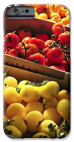 Freshness iPhone Cases - Tomatoes on the market iPhone Case by Elena Elisseeva