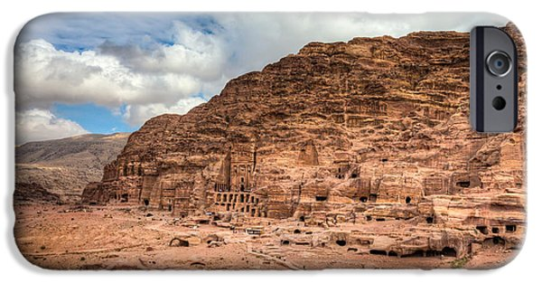 Jordan iPhone Cases - Tombs of Petra iPhone Case by Alexey Stiop