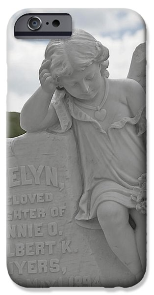 Tombstone Angel for an Angel iPhone Case by Christine Till