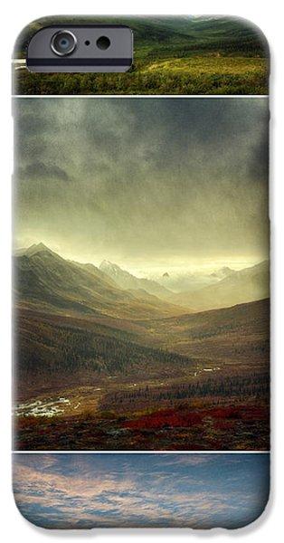 Drama iPhone Cases - Tombstone Range Seasons vertical iPhone Case by Priska Wettstein
