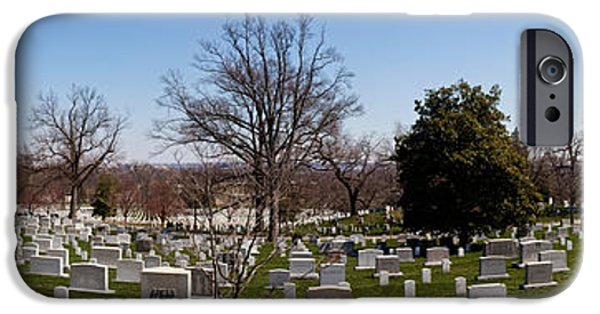 Patriotism iPhone Cases - Tombstones In A Cemetery, Arlington iPhone Case by Panoramic Images
