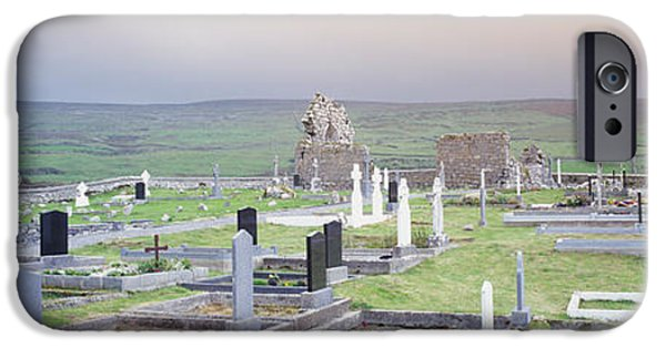 Megalith iPhone Cases - Tombstones In A Cemetery, Poulnabrone iPhone Case by Panoramic Images