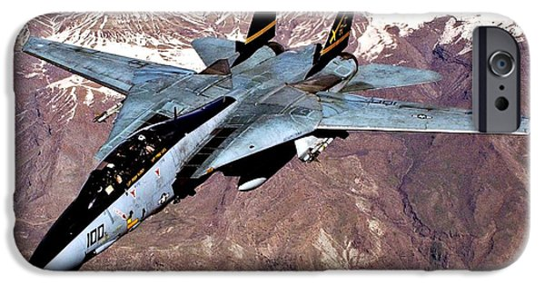 Iraq iPhone Cases - Tomcat over Iraq iPhone Case by Benjamin Yeager