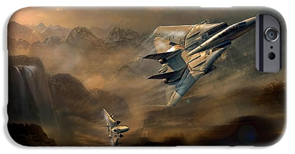 Wwi iPhone Cases - Tomcats at dusk iPhone Case by Peter Van Stigt