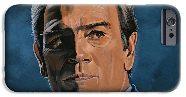 Lincoln iPhone Cases - Tommy Lee Jones iPhone Case by Paul  Meijering
