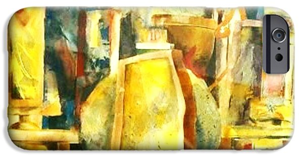Abstract Mixed Media iPhone Cases - Toms Trophies iPhone Case by BJ Pinkston