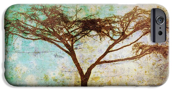Epic Amazing Colors Landscape Digital Modern Still Life Trees Warm Natural Earth Organic Paint Chic Decor Interior Design Brett Pfister Art Digital Art Digital Art iPhone Cases - Tonal Curve iPhone Case by Brett Pfister