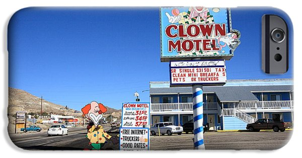 Juggling iPhone Cases - Tonopah Nevada - Clown Motel iPhone Case by Frank Romeo
