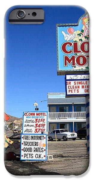 Tonopah Nevada - Clown Motel iPhone Case by Frank Romeo
