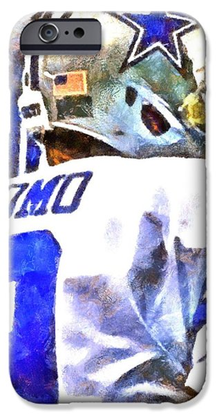 Romo iPhone Cases - Tony Romo iPhone Case by Carrie OBrien Sibley