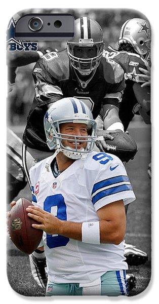 Dallas iPhone Cases - Tony Romo Cowboys iPhone Case by Joe Hamilton