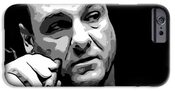 James Gandolfini iPhone Cases - Tony Soprano iPhone Case by Dan Sproul