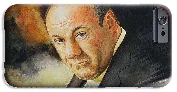 James Gandolfini iPhone Cases - Tony Soprano iPhone Case by Jan Szymczuk