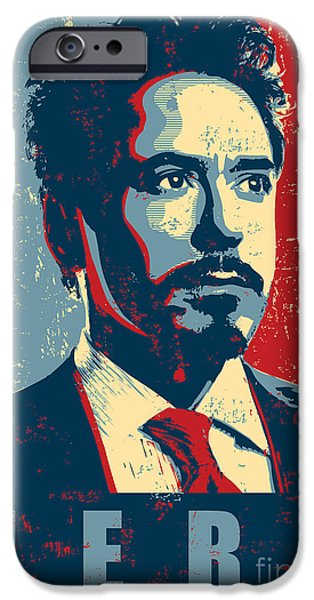 Iron iPhone Cases - Tony Stark iPhone Case by Caio Caldas